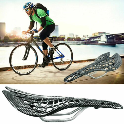 Carbon fiber MTB Road Mountain Bike Cycling Bicycle Saddle Breathable Fold Seat//