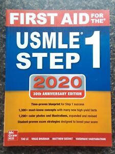 First Aid For the USMLE Step 1 2020 30th Edition Paperback Book - NEW