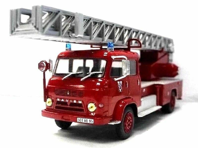 Saviem S7 Échelle 1 43 Ixo Hachette Camion de pompiers Diecast