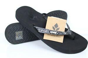 Reef-Women-039-s-Star-Cushion-Flip-Flop-Sandals-Size-9-Black-Gunmetal