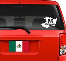 "Car Decals. Wall Decal. Laptop Decal... Mapa Michoacan, Mexico. Logo  8"" W"