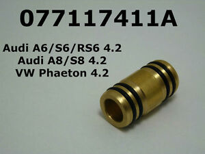 Billet-Oil-Cooler-Tube-Audi-A6-S6-RS6-A8-S8-4-2-VW-Phaeton-4-2-077117411A