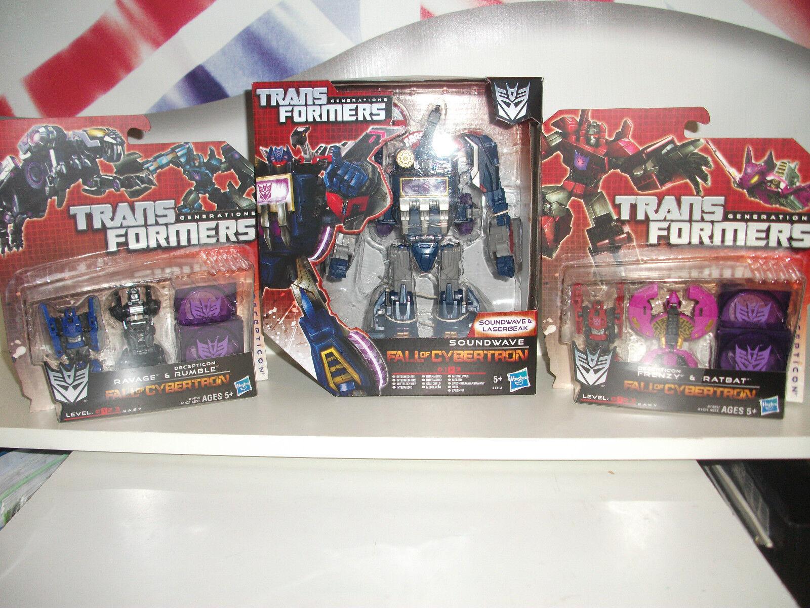 Transformers,SOUNDWAVE & laserbeake.+ ravage,rumble,frenzy & ratbat BUNDLE LOT
