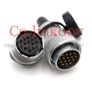WEIPU WS28 16pin Bulkhead Connector, Thread Industrial Electric Plug Socket