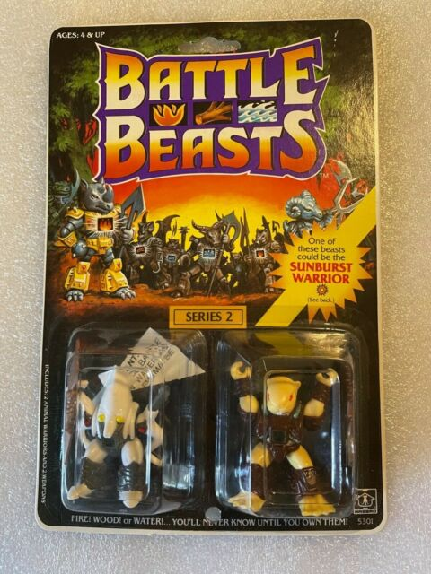 BATTLE BEASTS #43 CUTTHROAT CUTTLEFISH/#44 EAGER BEAVER 1987 HASBRO FIGURES