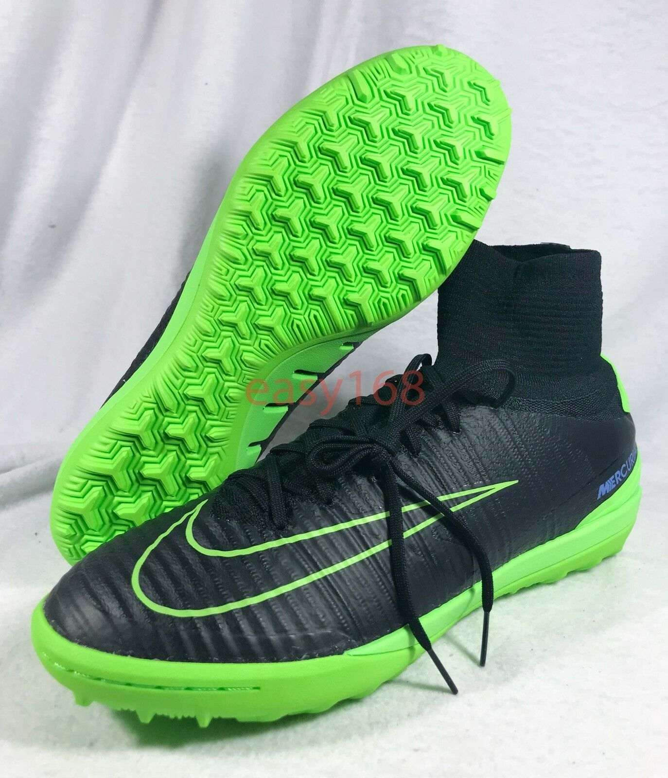 New Nike MercurialX Proximo II Sz 10.5 soccer 831977 Turf Green 44.5 Black shoes