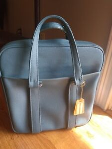 VINTAGE RETRO Samsonite Travel Tote Bag Carry On Luggage Teal/Blue