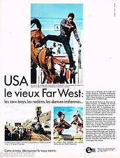 PUBLICITE ADVERTISING 055  1967  OFFICE TOURISME USA  le vieux FAR-WEST