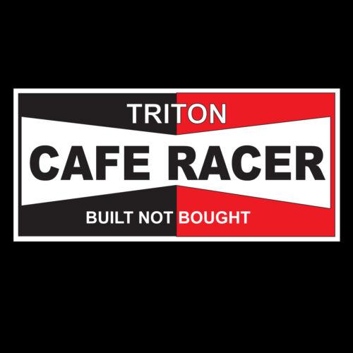 MOTORBIKE-MOTORCYCLE-BLACK-GILDAN T-SHIRT CAFE RACER BUILT NOT BOUGHT TRITON