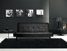 Divano letto sofa 180x80 nero ecopelle reclinabile design moderno arredo|jko