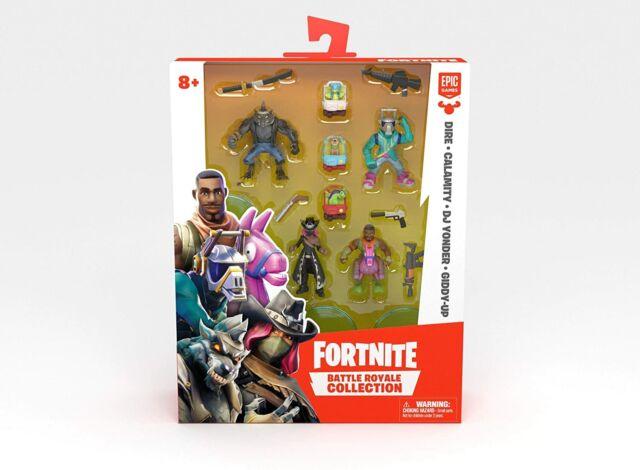 Dire /& Giddy-Up DJ Yonder Calamity Details about  /Fortnite Battle Royale 4 Pack Mini Figures