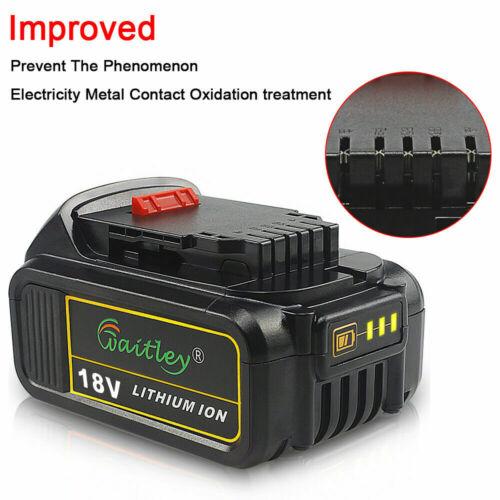2 x 18V 6Ah Li-ion Battery for DEWALT XR DCB184 DCB182 DCB183 DCB180 6000mAh