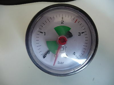 Druckmanometer für Heizung → Anschluß auf der Rückseite - Ø 11 mm  Außen