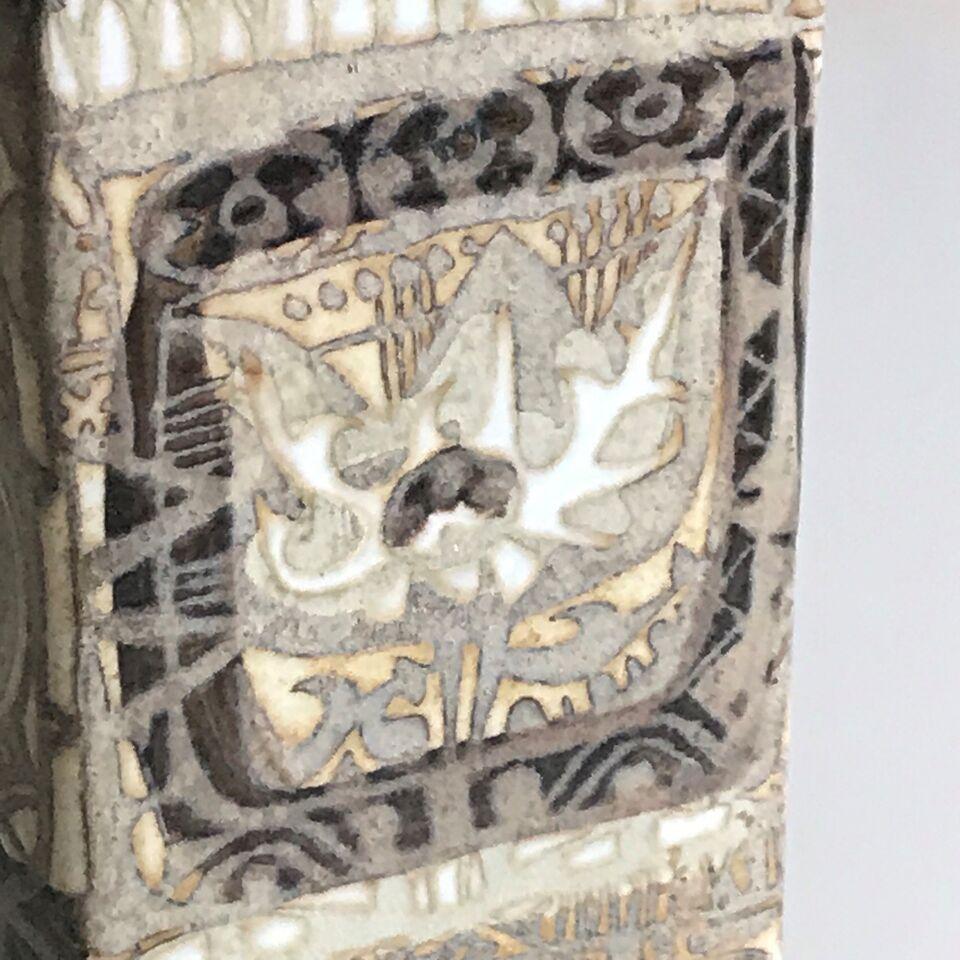 Fajance, Firkantet Vase, Royal Copenhagen