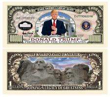 50 Donald Trump President Money Fake Dollar Bills Legacy Note Million Lot