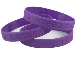 Image Is Loading Cystic Fibrosis Awareness Charity Wristband Bracelet Purple Silicone