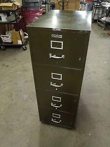 Vintage Victor Fire Master 4 drawer file cabinet Certified 1 hour ...