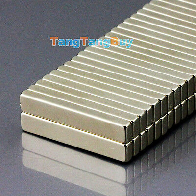 100PCS N50 Super Strong Block Cuboid Magnets 30 x 5 x 3 mm Rare Earth Neodymium