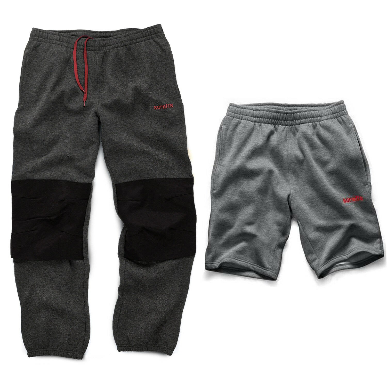 Scruffs Twin Pack Grigio Scuro in Pile Pile Pile Jogging Pantaloni E Pantaloncini Pantaloni sportivi uomo 7776c5