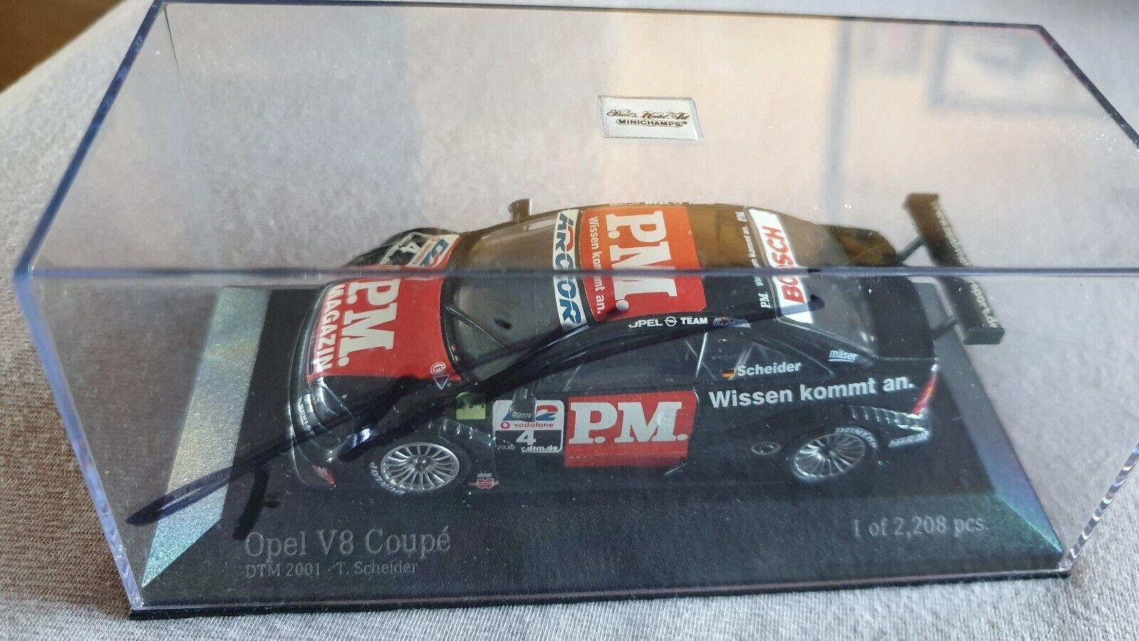 Opel V8 Coupe DTM 2001 Nr.4 Timo Scheider Minichamps 1 43 Original Signiert