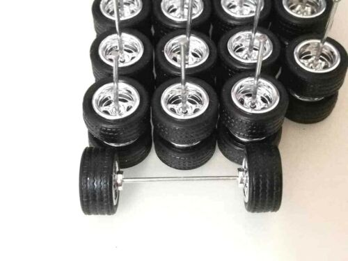 "Hot Wheels 5 Spoke Caoutchouc Pneu 10 ensembles JDM Chrome Limited Stock/"""
