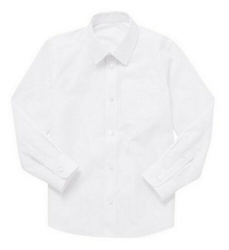 Girls School Long Sleeve Shirt White sizes Age 3-17 Uniform