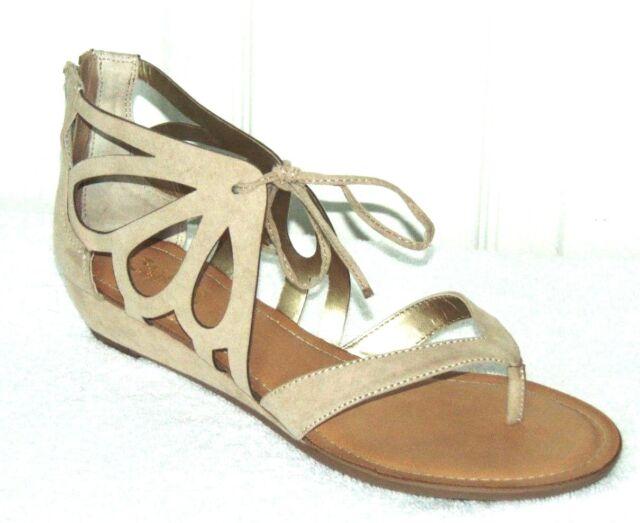 ec0cf1fd086d Size 9 Carlos Santana Katarina Thong Wedge Sandal in Tan for sale ...