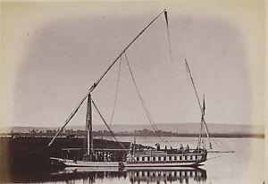 Egitto Foto Albumina Stampa Verso 1890 IN Piccolo Formato 9x13cm