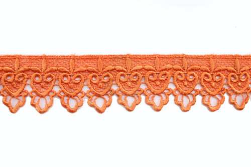 "Unotrim 2/"" 19 Colors of Rayon Venice Lace Trim Scalloped DIY Trimming By Yard"