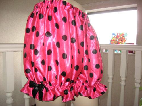 Nouveau rouge blanc rose Polkadots satin sissy court culottes bouffantes pantalon lolita partie