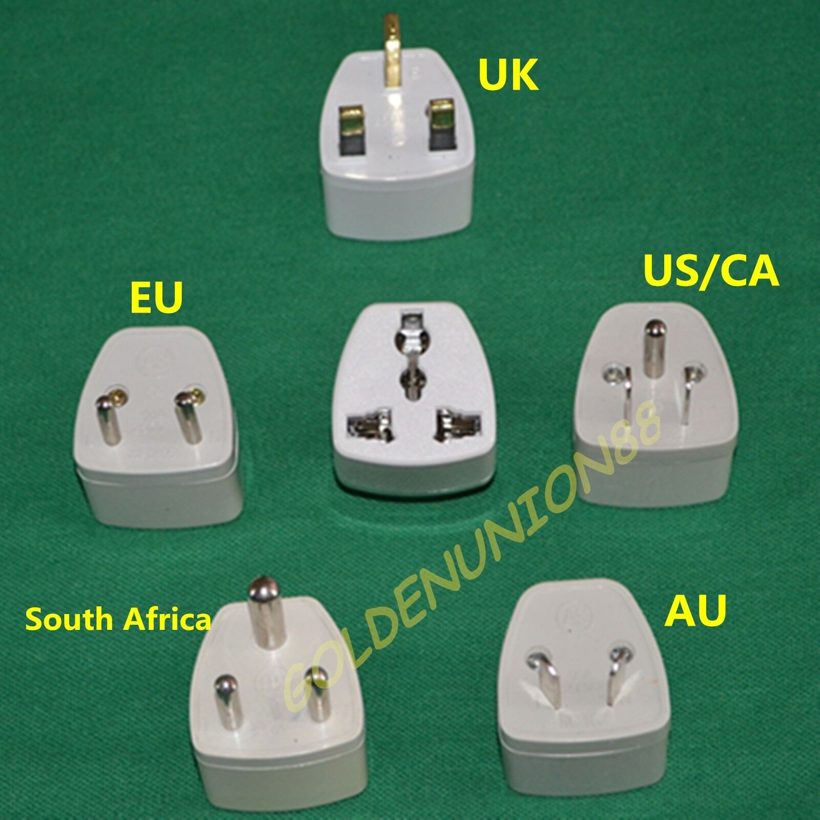 1pc Euro Eu Au Uk Hk Us Ca South Africa Travel Adaptor Plug Converter Adapter Ebay