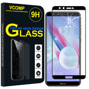 Film-Verre-Trempe-Protecteur-Protection-NOIR-pour-Huawei-Honor-9-Lite-5-65-034
