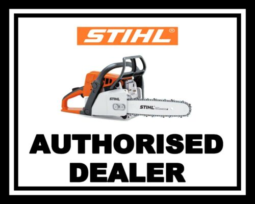 STIHL AUTHORISED DEALER SAW CHAINSAW TREE FOREST METAL PLAQUE TIN WALL SIGN 1835