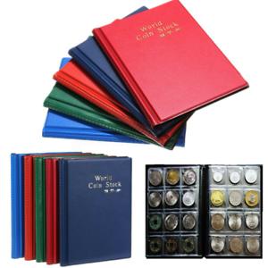 120-Cases-Album-De-Pieces-Classeur-Monnaie-Etui-Housse-Pochette-coin-Collection