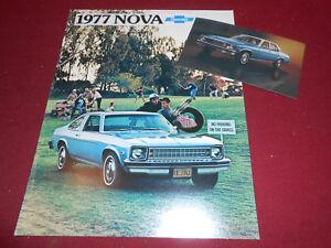 1977 Chevrolet Nova 12-page Original Car Dealer Sales Brochure Catalog Chevy SS