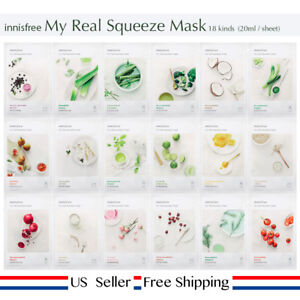 innisfree-My-real-squeeze-mask-18kinds-choose-Free-Sample-US-Seller