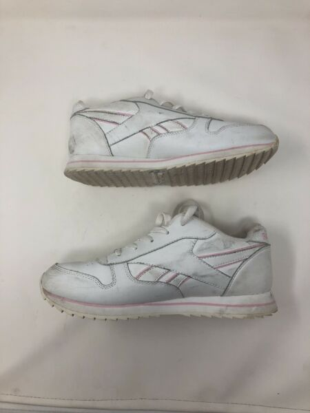 45f5bef5a Hover to zoom · Vintage 80s Reebok White Pink Mens 5.5 Women's 7 Light Up  Sneakers Classic RARE