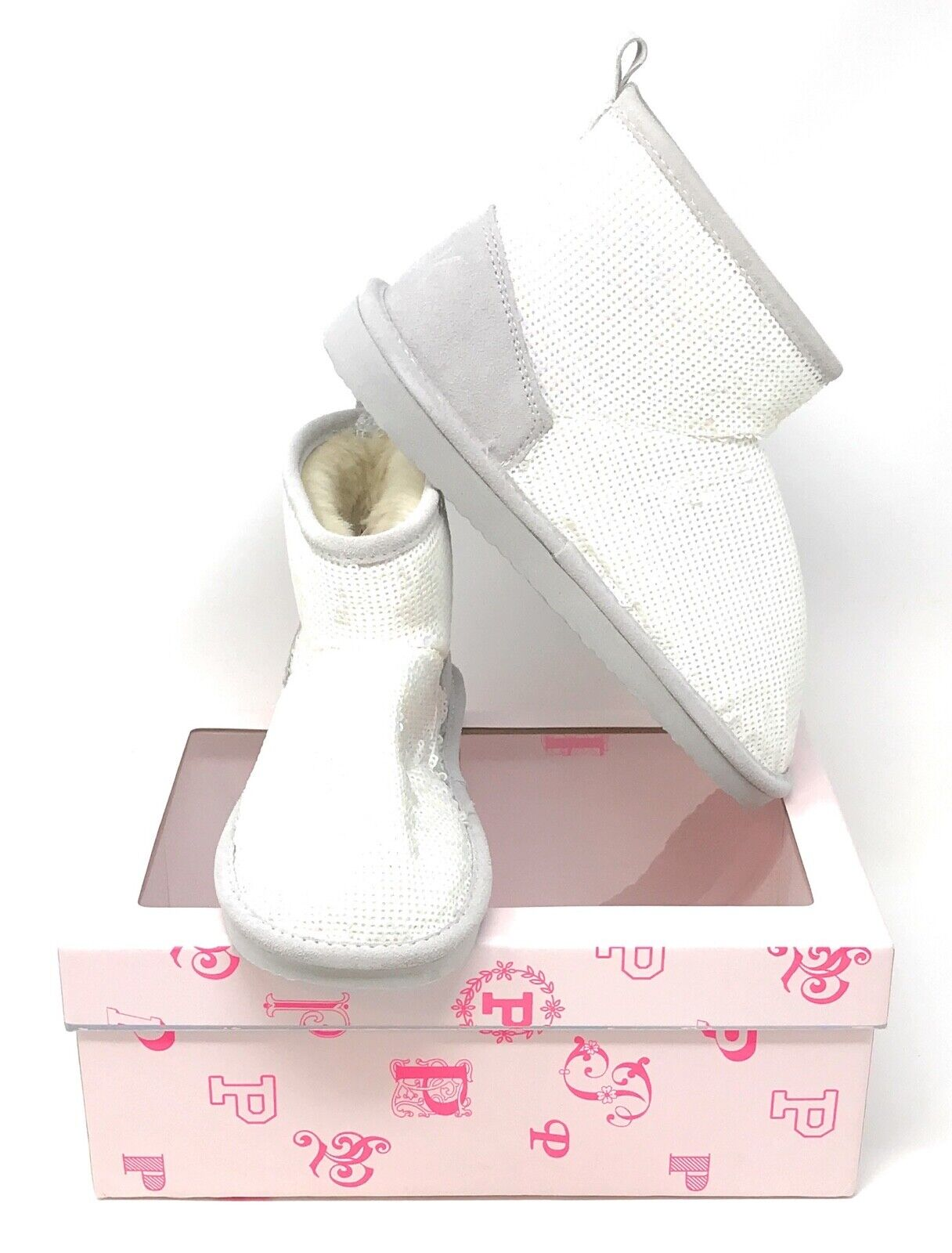 Victoria/'s Secret Pink Mukluk Boot Fur Lined Bootie Slippers Bling Limited New