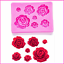 Roses shaped fondant silicone rubber moulds accessories chocolate cake FT-1023