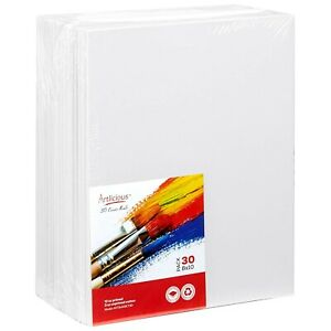 Artlicious-30-Classroom-Value-Pack-8x10-Primed-Canvas-Panel-Boards-Indi