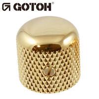 (1) Gotoh Vk1-19 - Control Knob - Dome - Bass, Guitar 6mm Hole, Metal - Gold