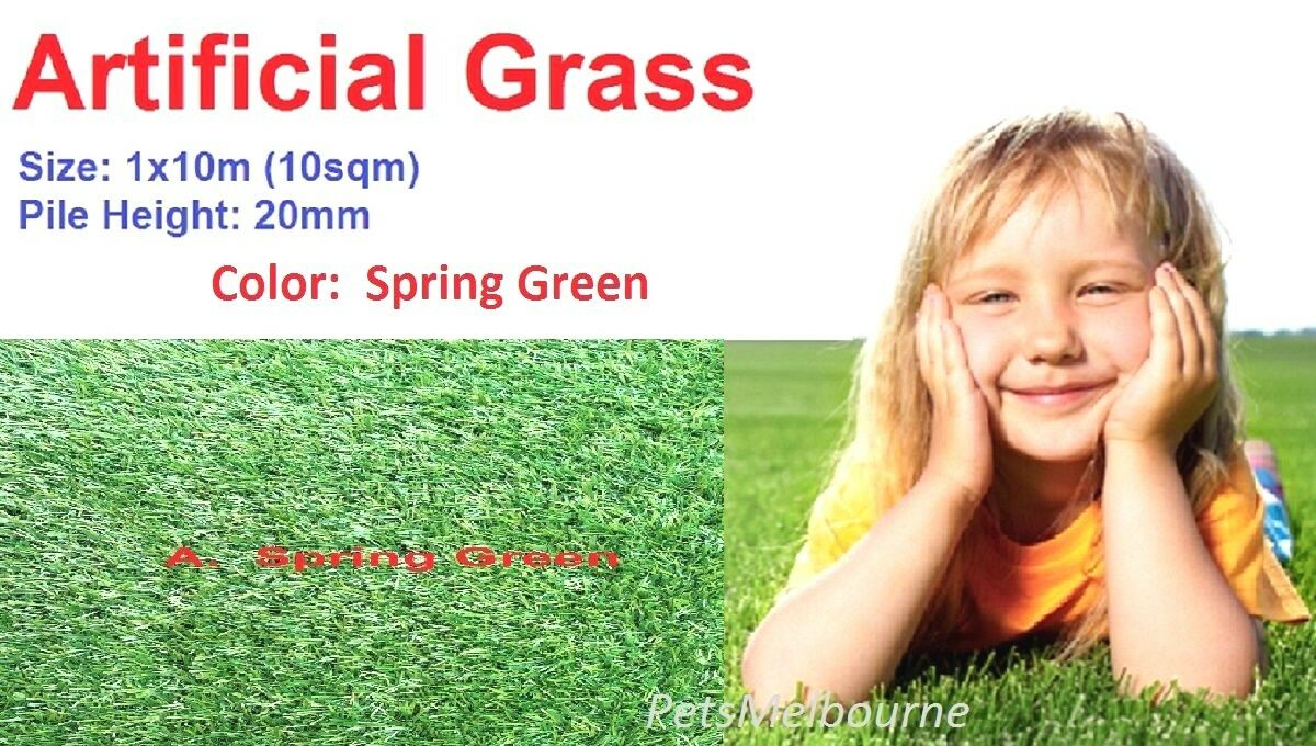 10sqm pk 20mm pile landscape synthetic lawn turf artificial grass spring 3 Farbe