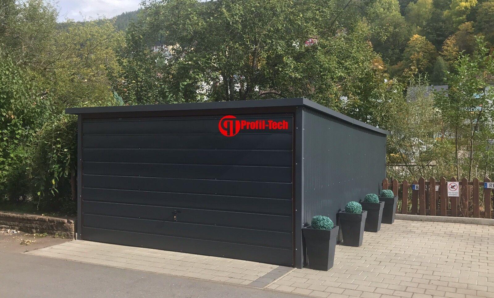 4,0X5,5 R7016 Blechgarage Fertiggarage Metallgarage RAUM KFZ REIFEN LAGER GARAGE