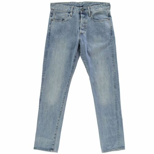 34 RRP £ 84.99 Light 32 Homme G-STAR RAW 3301 Tapered Jeans 32-32 ////