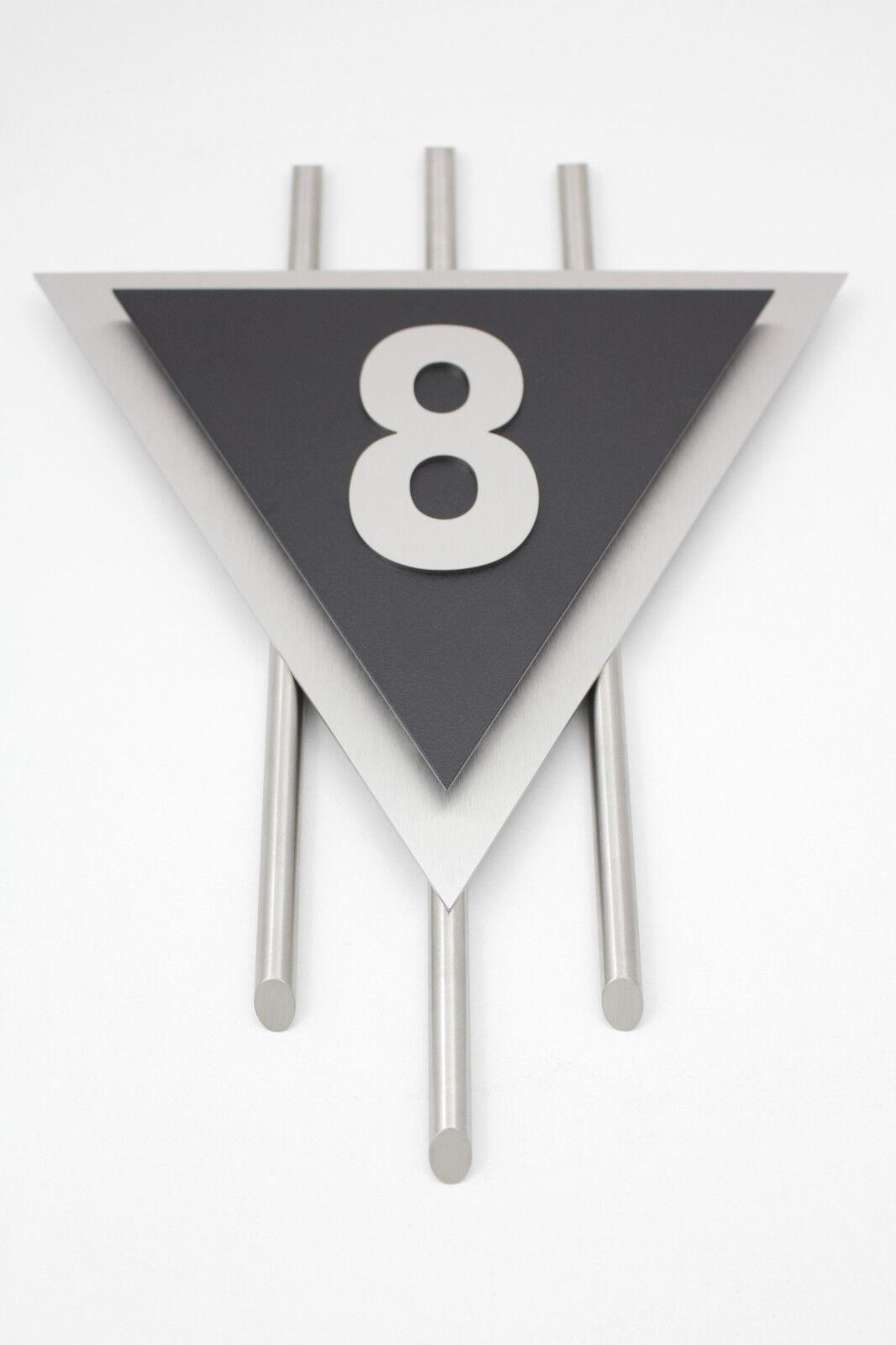 Hausnummer Edelstahl Schwarz Exklusives Design Venus Zahl 1 - 9 Zierstangen V2A