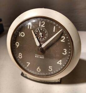 Vintage Westclox Wind Up Round Big Ben Alarm Clock Works