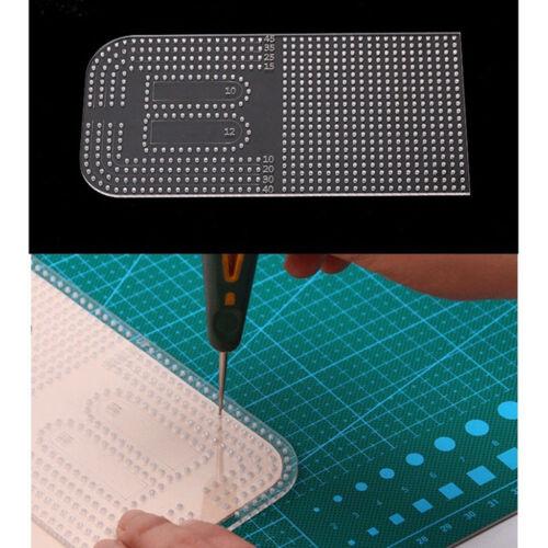 Leather Craft Acrylic Cutting Circle Corner Stitching Template 177 x 86mm