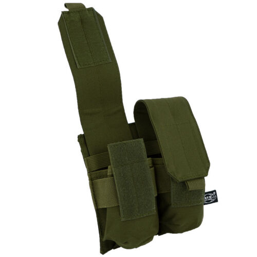 MFH Tactical MOLLE Double Mag Magazine Pouch Olive OD