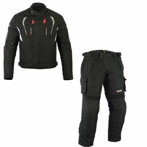 Motorradanzug mit Protektoren wasserdichter Anzug Herren Motorrad Textilanzug