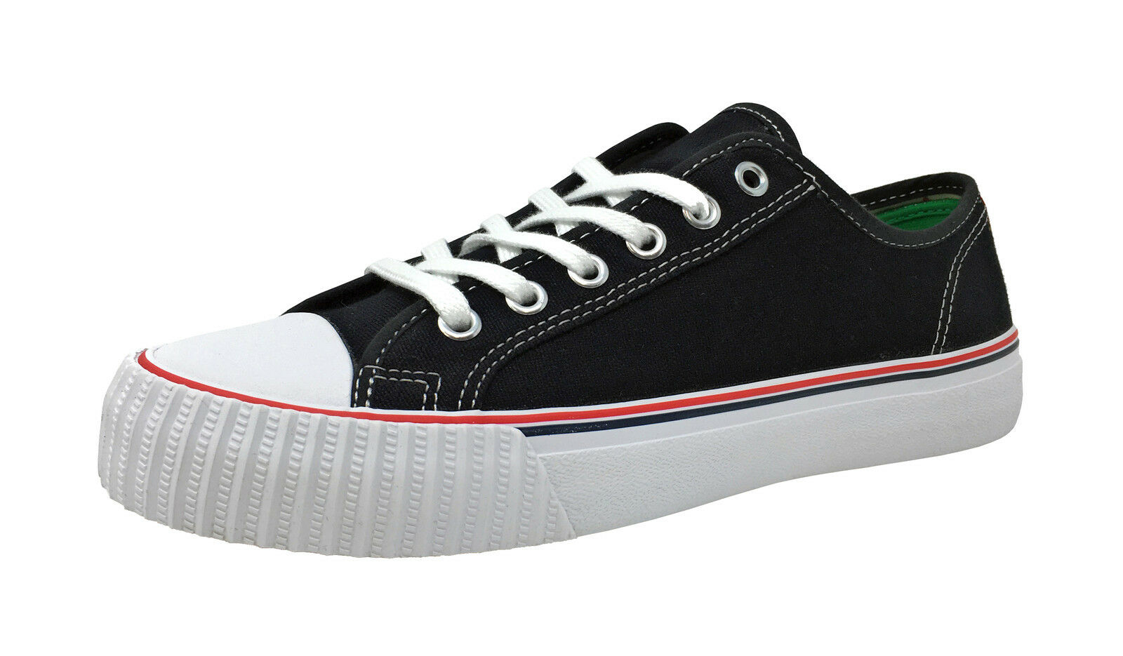 PF Flyers Men's shoes Center Low MC2002BL - Black White